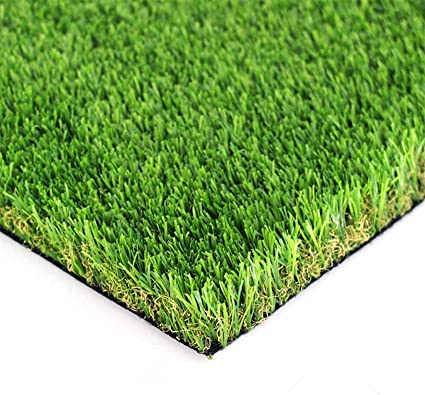 AYOHA 3 FT x 1 FT Artificial Grass High Density Non-Toxic Easy to Clean with Drain Holes Indoor//Outdoor Landscape Realistic Fake Grass Deluxe Synthetic Turf Thick Lawn Pet Turf 35mm