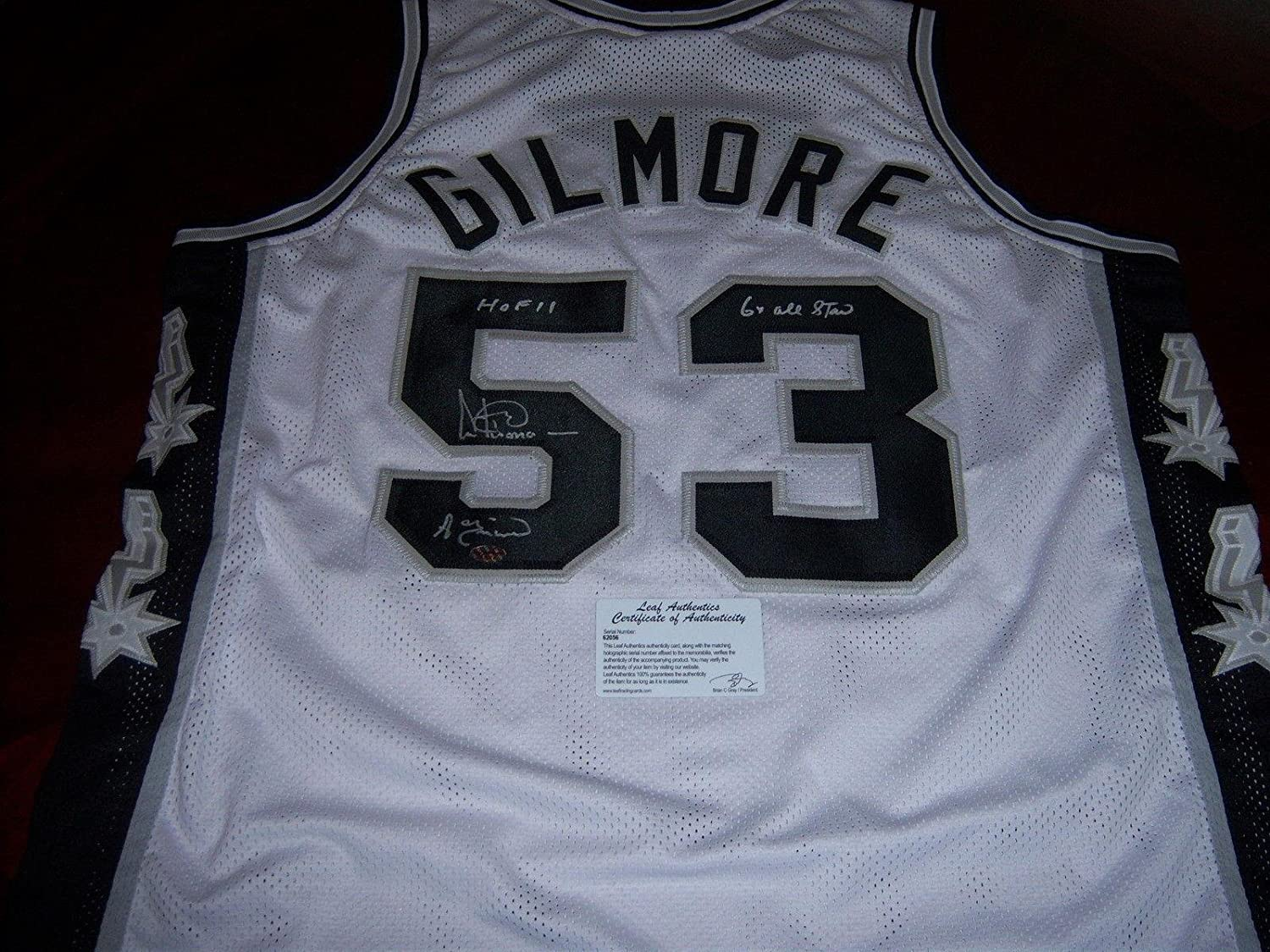 abb6bd9cb Amazon.com: Artis Gilmore Signed Jersey - Hof 11 a train 6x Allstar Leaf  coa - Autographed NBA Jerseys: Sports Collectibles
