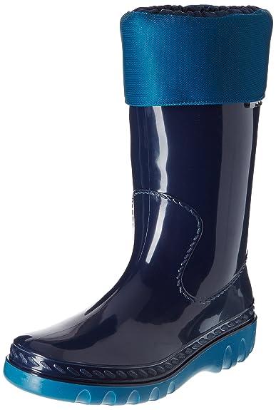 Romika Kadett, Unisex-Erwachsene Halbschaft Gummistiefel, Grün (lime-blau 646), 36 EU