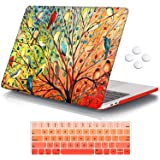 iCasso Case Compatible with MacBook Pro 13 inch 2016-2020 Release A2338M1/A2159/A1989/A1706/A1708, Plastic Hard Shell Case wi