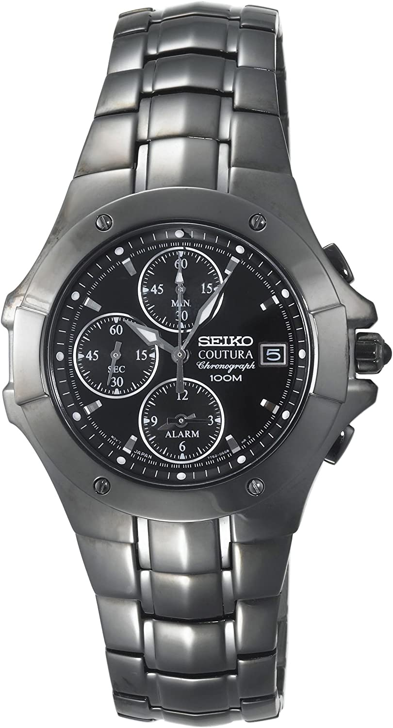Seiko Men s SNAC41 Coutura Alarm Chronograph Watch