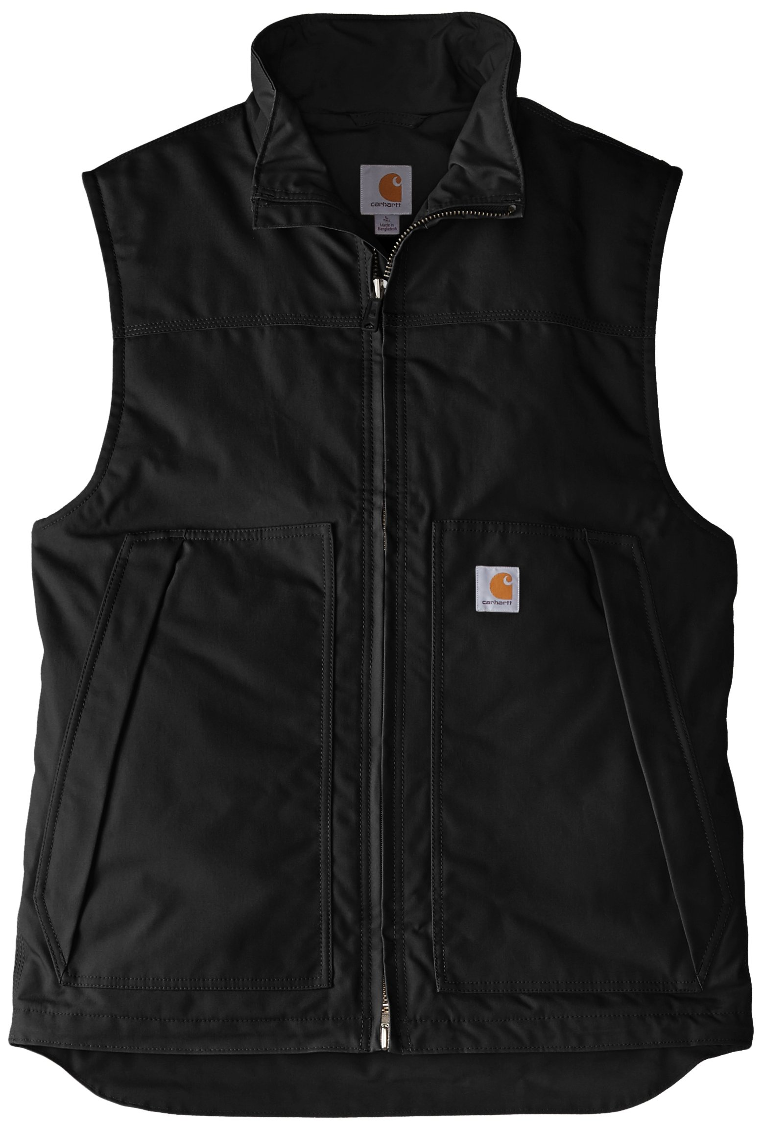 Carhartt Men's Big & Tall Quick Duck Jefferson Vest,Black,2X-Large/Tall