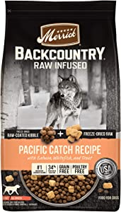 Merrick Backcountry Raw Infused Grain Free Dry Dog Food Pacific Catch Recipe - 20.0 lb Bag