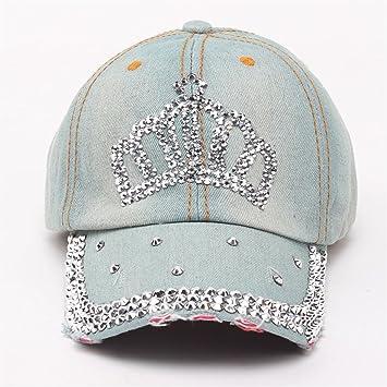 ECYC Gorra De BéIsbol Ajustable del Diamante del Sol del Sombrero del Dril  De AlgodóN De La Corona del Diamante Artificial De Las Mujeres  Amazon.es   ... c3aaf7494d8