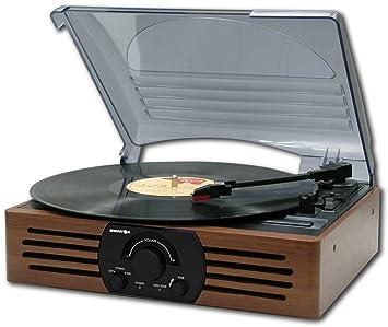 Brigmton BTC-402 tocadisco - Tocadiscos (Tocadiscos de tracción directa, Negro, 33,45 RPM, 2,2 kg, 320 x 270 x 135 mm)