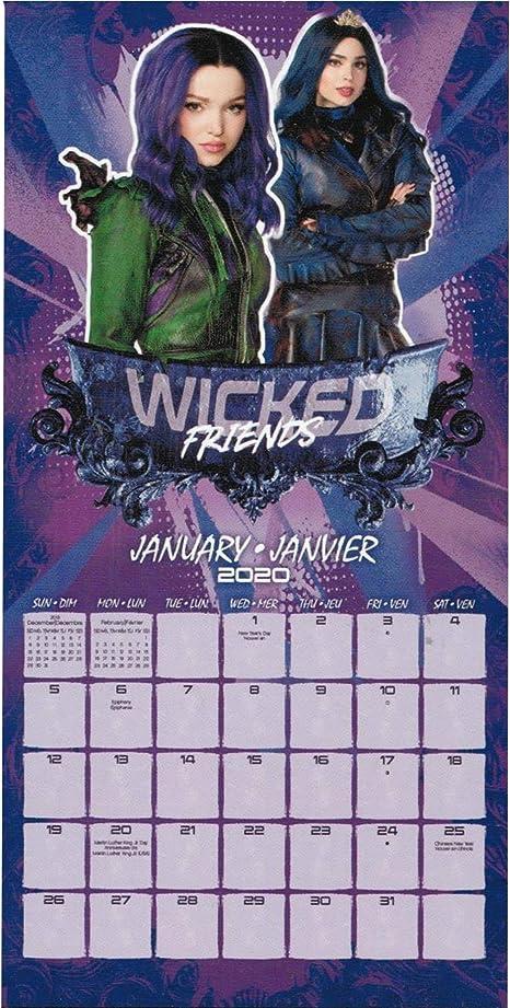 Calendario 2020 de Descendientes de Disney, calendario de pared de ...