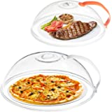 Microwave Splatter Cover-2 Pack, Microwave Cover for Foods, BPA Free Microwave Plate Cover Guard Lid with Adjustable Steam Ve