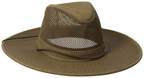 aea3bdcc47b Amazon.com  Henschel Crushable Soft Mesh Aussie Breezer Hat  Sports ...