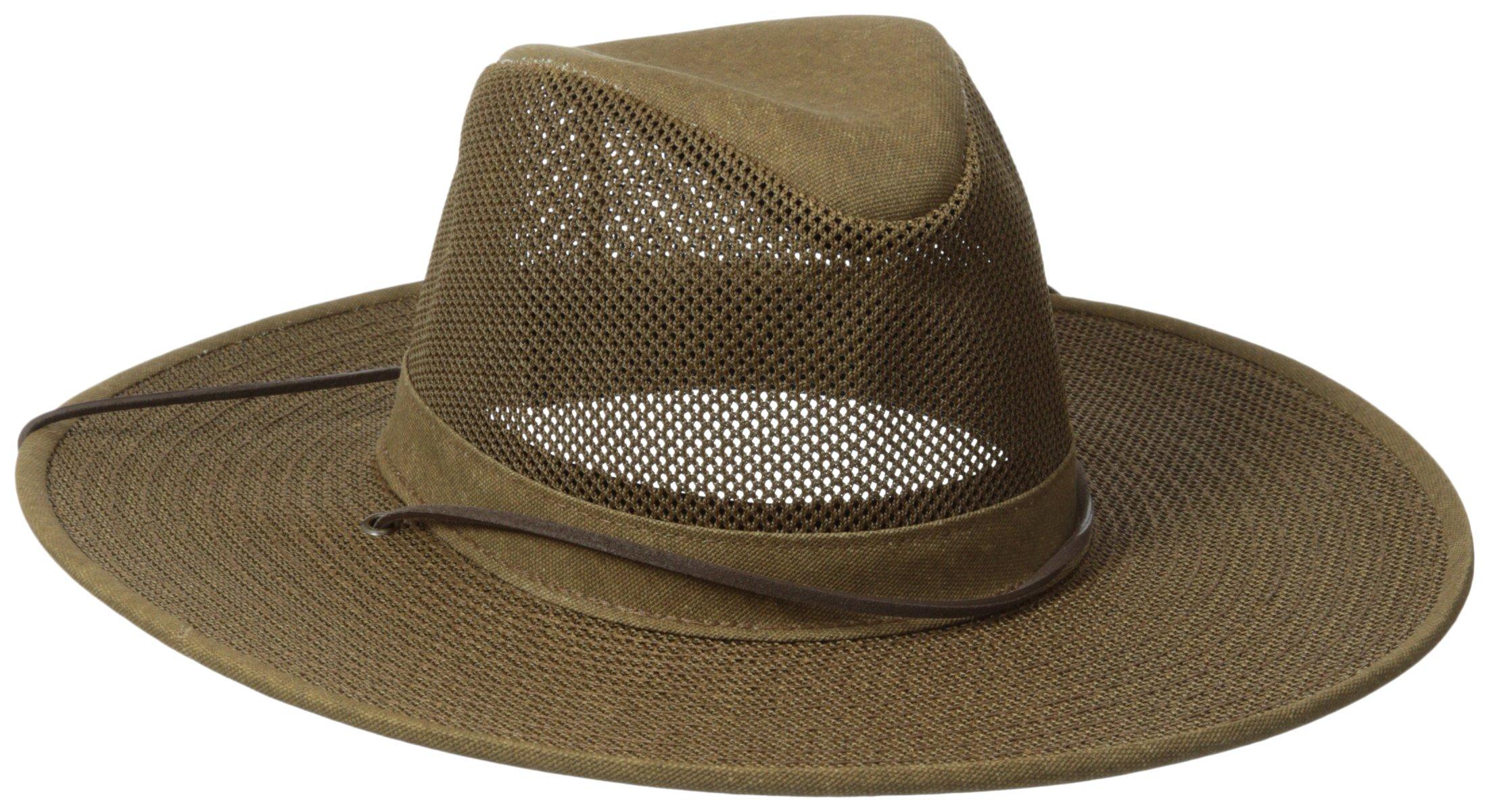 Henschel Crushable Soft Mesh Aussie Breezer Hat, Earth, Medium