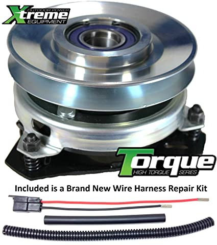 81kJHYKlZUL._SX425_ amazon com bundle 2 items pto electric blade clutch, wire cub cadet pto clutch wire harness repair kit at bayanpartner.co