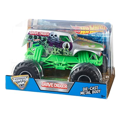 Hot Wheels Monster Jam 1:24 Grave Digger (Grim): Toys & Games