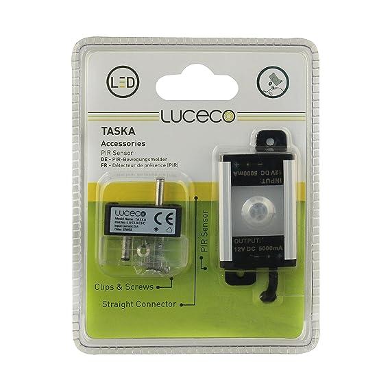 Luceco - LUCLACSCPIR-LE Kit detector de presencia para regleta LED, plástico, negro: Amazon.es: Iluminación