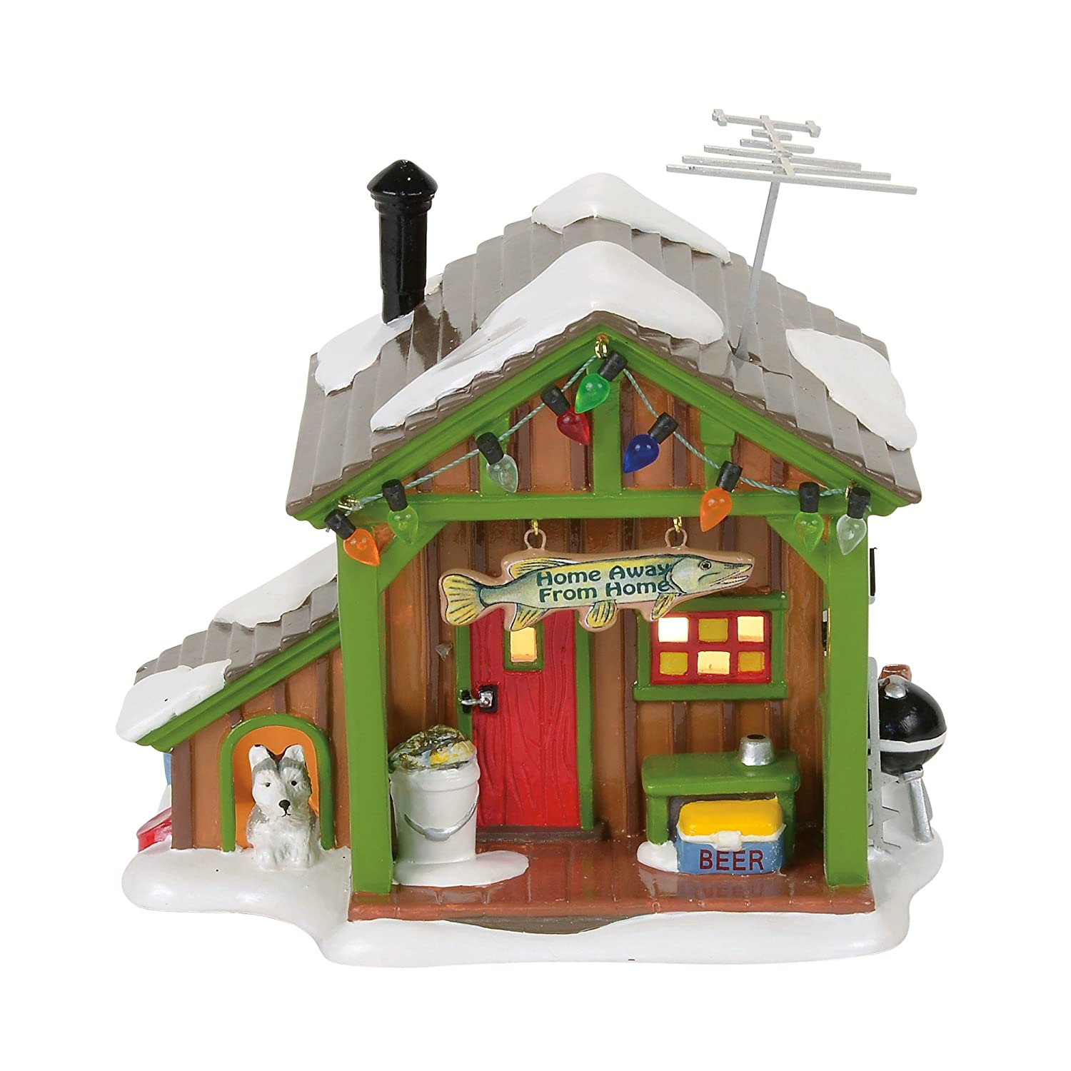 Department 56 Snow Away from Home Fish Shack Village Lit Building, Multicolor 4056685
