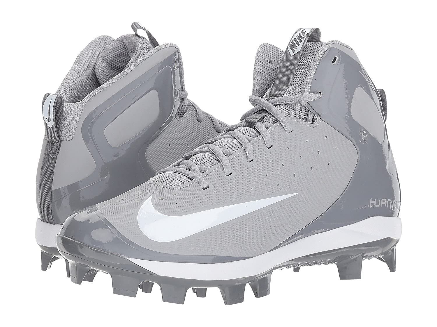 (ナイキ) NIKE メンズ野球ベースボールシューズ靴 Alpha Huarache Pro Mid MCS Wolf Grey/White/Cool Grey 12.5 (30.5cm) D Medium B078Q1ZZWJ