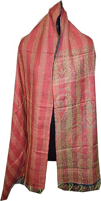 5 Pcs lot wholesale vintage cotton sari kantha scarves hand quilted stoles