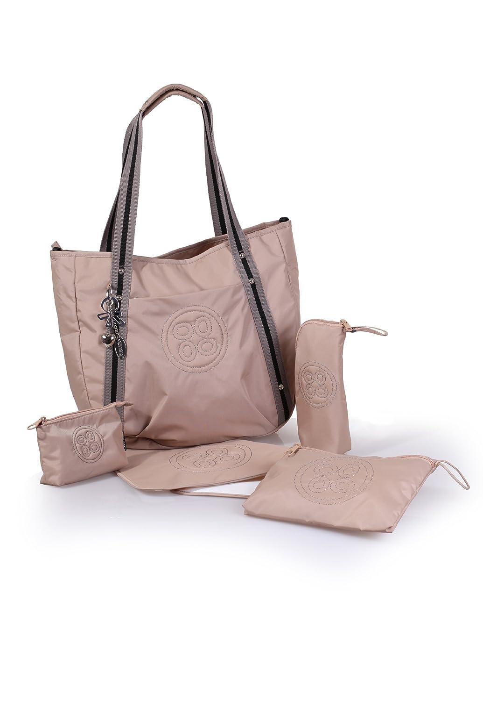 okiedog LUXE CLASSIC COSMO eleganter Shopper-Henkeltasche inkl. Zubehör (beige)