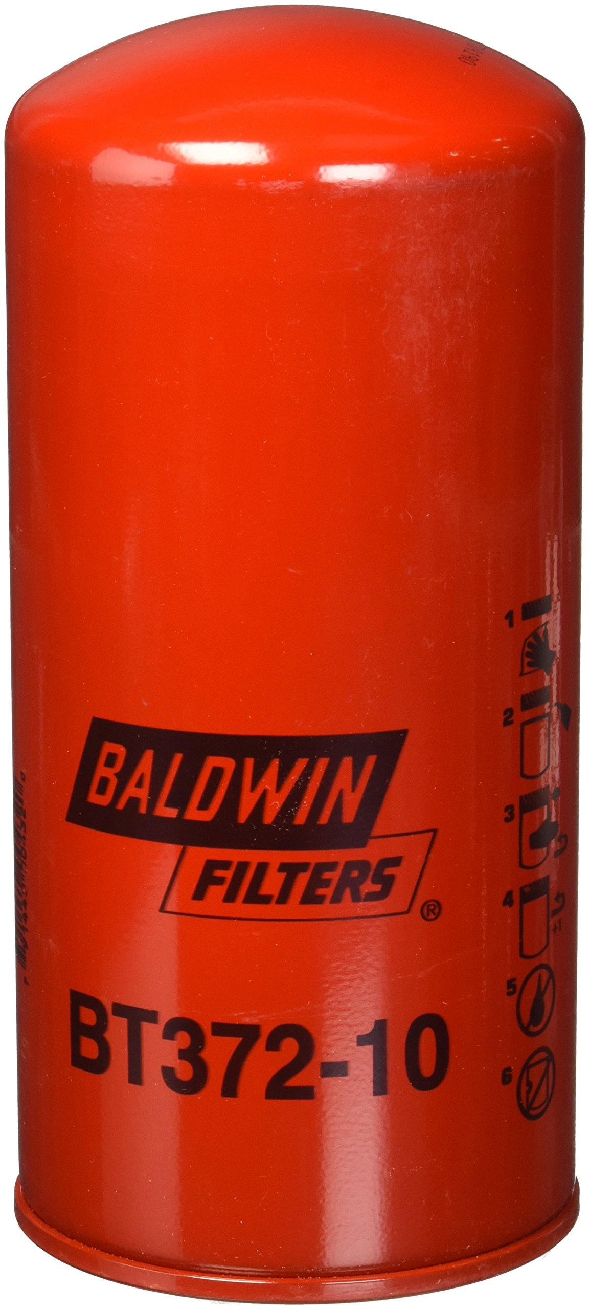 Baldwin Heavy Duty BT372-10 Hydraulic/Transmission Filter,8-1/16 In