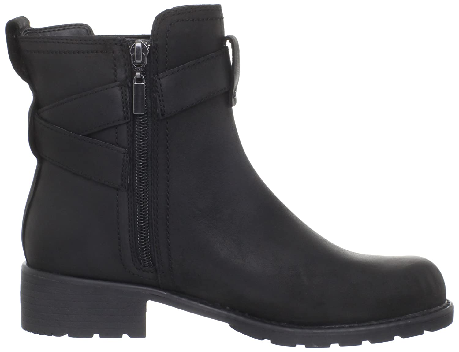 Amazon.com | Clarks Women's Orinocco Leap Motorcycle Boot, Black, 8.5 M US  | Ankle & Bootie
