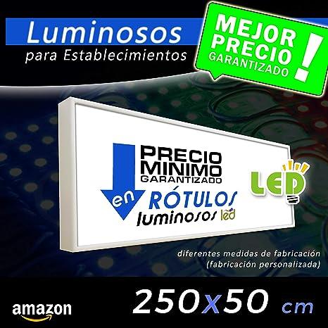 Rótulo Luminoso led 250x50, cajón luminoso para publicidad ...