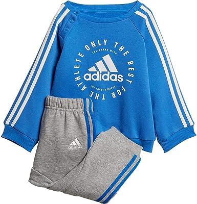 DN8419 Adidas Infant Linear Hooded Fleece Tracksuit Boys Children Kids Jogger
