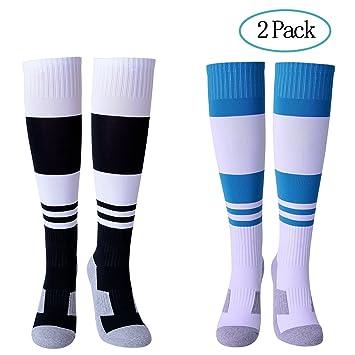 Diealles Calcetines de Fútbol Infantil, 2 Pair Calcetines de Compresión Niños 6-11 años