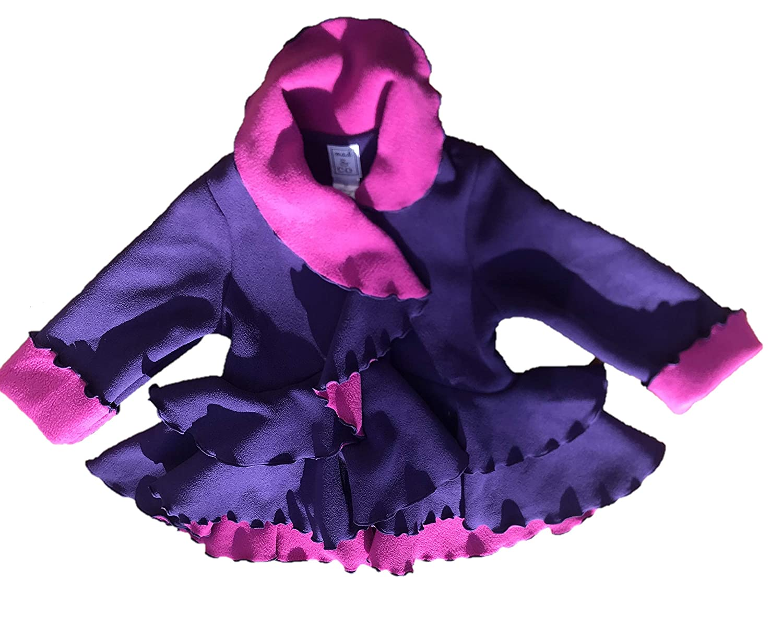 Ruffle Bottom Mack /& Co Fleece Coat for Girls