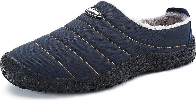 Invierno Al Aire Libre Zapatillas Interior Suave Algodón Zapatilla Caliente Impermeable Slippers Mujer Hombres Casa ...