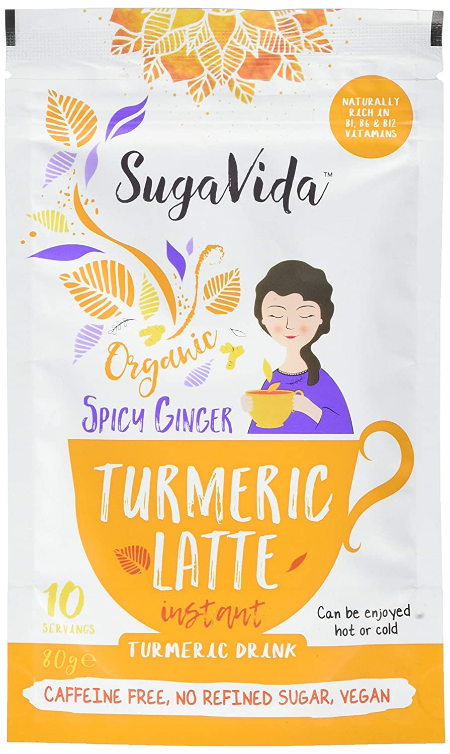 Sugavida Turmeric Latte Mix - Spicy Ginger 80g (Pack of 1) Wholebeing Health Foods 92742