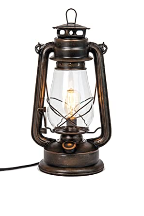 Amazon Com Dimmable Electric Lantern Lamp With Edison Bulb Included