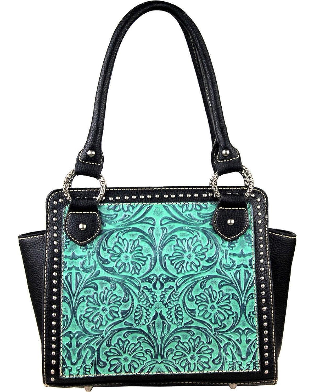 22b729a923cc Montana West Women's Trinity Ranch Turquoise Tooled Design Handbag ...