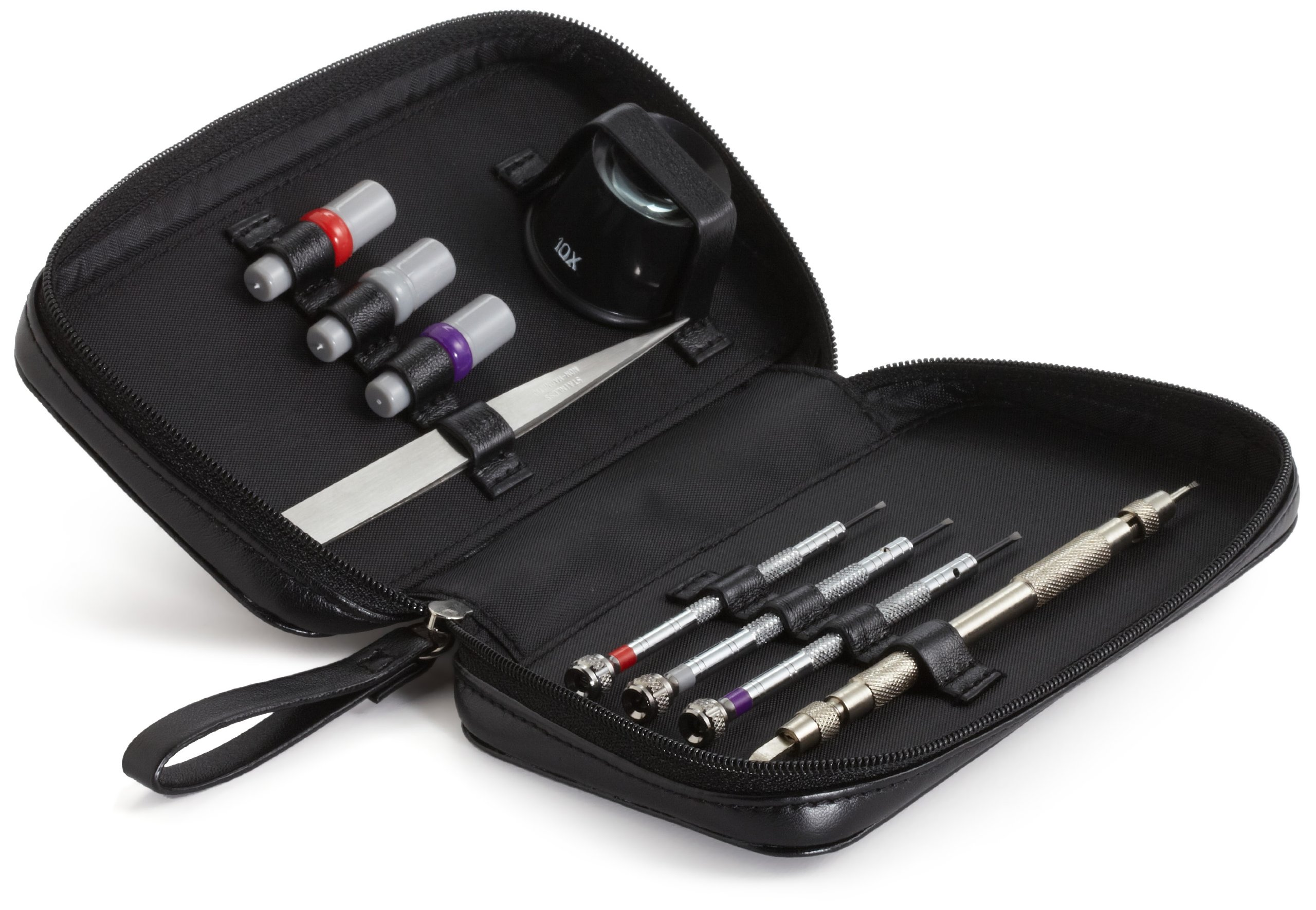 WOLF 459902 Watch Repair Tool Kit, Black