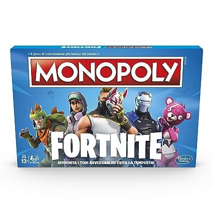 Amazon.com: Hasbro Monopoly Fortnite Game, Italian Version ...