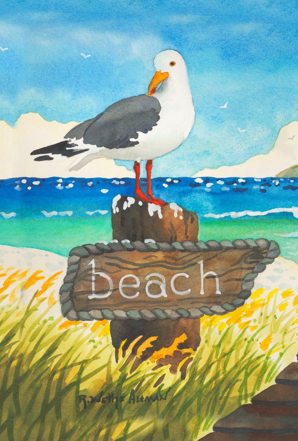 Toland Home Garden Beach Bird 28 x 40 Inch Decorative Summer Ocean Seagull House Flag