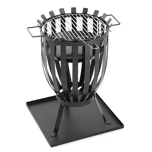 GrillChef Feuerkorb schwarz - 355 cm