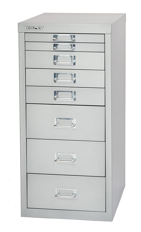 Bisley Bisley Bisley MultiDrawer, 29er Serie, DIN A4, 8 Schubladen, 355 Silber, 38 x 27.9 x 59 cm f5515b