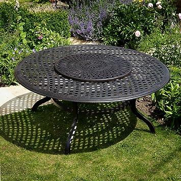 Lazy Susan Conjunto de Muebles de jardín Mesa Redonda Maisie 180 cm, diseño de Mesa y 8 sillas, Color Rosa: Amazon.es: Hogar