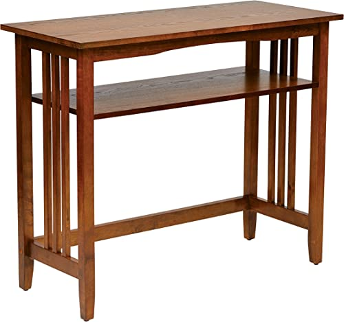 Office Star Sierra Solid Wood Foyer Table, Ash Finish