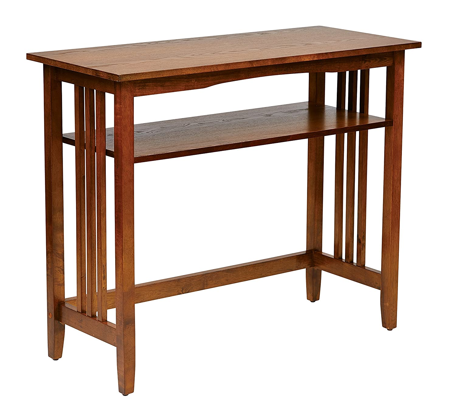 amazoncom office star sierra solid wood foyer table ash finish kitchen dining - Foyer Table