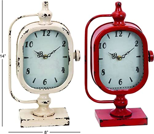 Deco 79 Metal Clock, 2 Assorted, 8 by 14