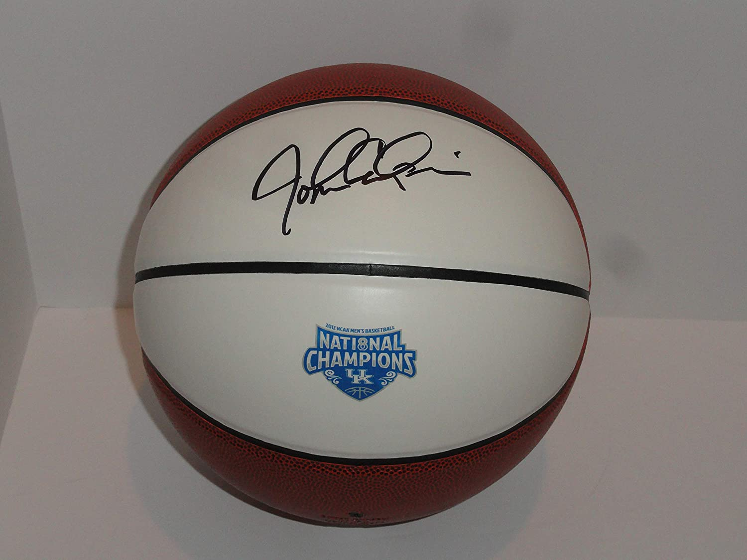 JOHN CALIPARI SIGNED BASKETBALL KENTUCKY WILDCATS 2012 NATIONAL CHAMPIONS PROOF