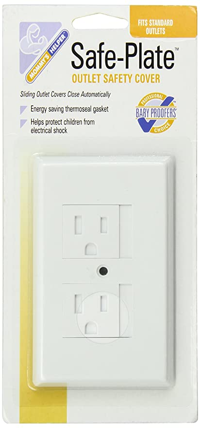 Mommys Helper White Safe Plate Electrical Outlet Covers Standard 10 Pk