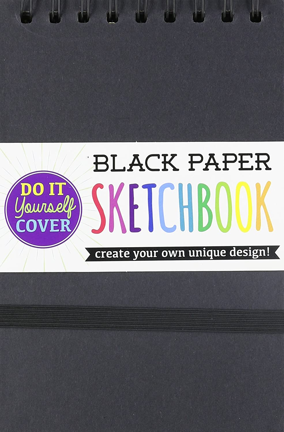 "OOLY, DIY Cover Sketchbook - Small Black Paper 5""x 7.5"" (118-102)"
