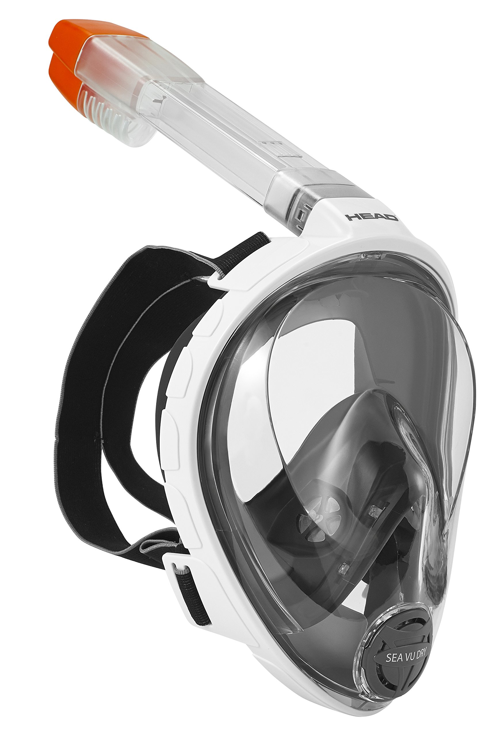 HEAD Sea VU Dry Full Face Snorkeling Mask, Large/X-Large by HEAD