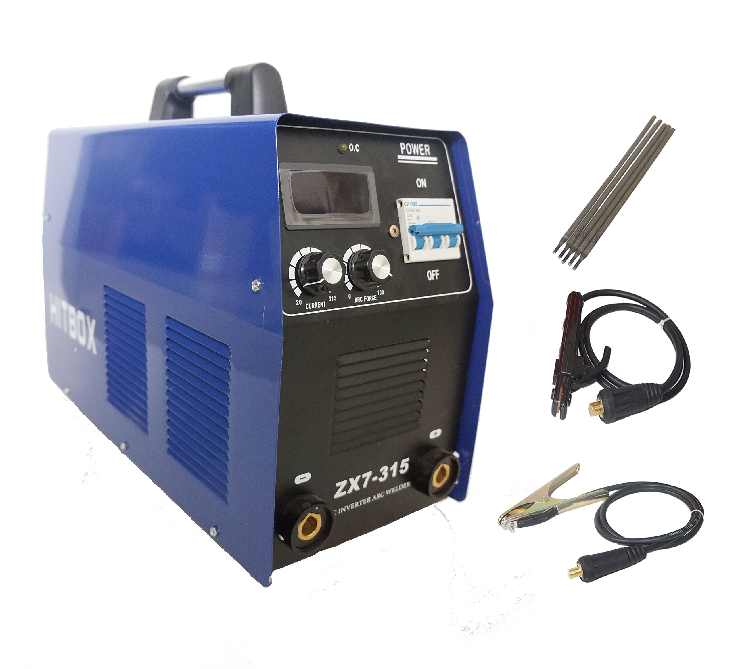 ARC Welding Machine ZX7-315 Stick Welder Actual Current 250Amp 3 phase 380V DC Inverter Welding Machine Good Heatsink 60% Duty Cycle Industrial Use MMA Welder by HITBOX