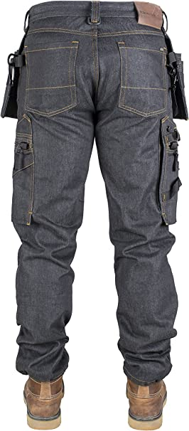 Dunderdon DW10120101003032 Pantalon de travail P15 Taille W28L30 denim//noir
