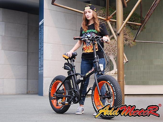 Addmotor Motan M-150 plegable bicicleta eléctrica 500 W 48 V Bafang Motor 10,4 Ah bicicleta eléctrica Batería de litio de Samsung para la venta con Shimano ...