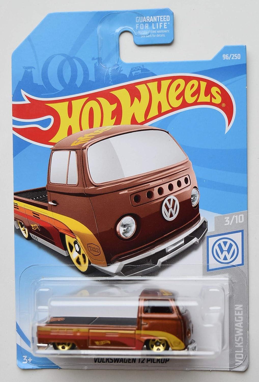 Burnt Orange Volkswagen T2 Pickup 96//250 HOT Wheels 1:64 Scale Volkswagen 3//10