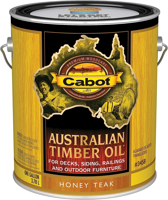 Cabot 140.0003458.007 Australian Timber Oil Stain, Gallon, Honey Teak