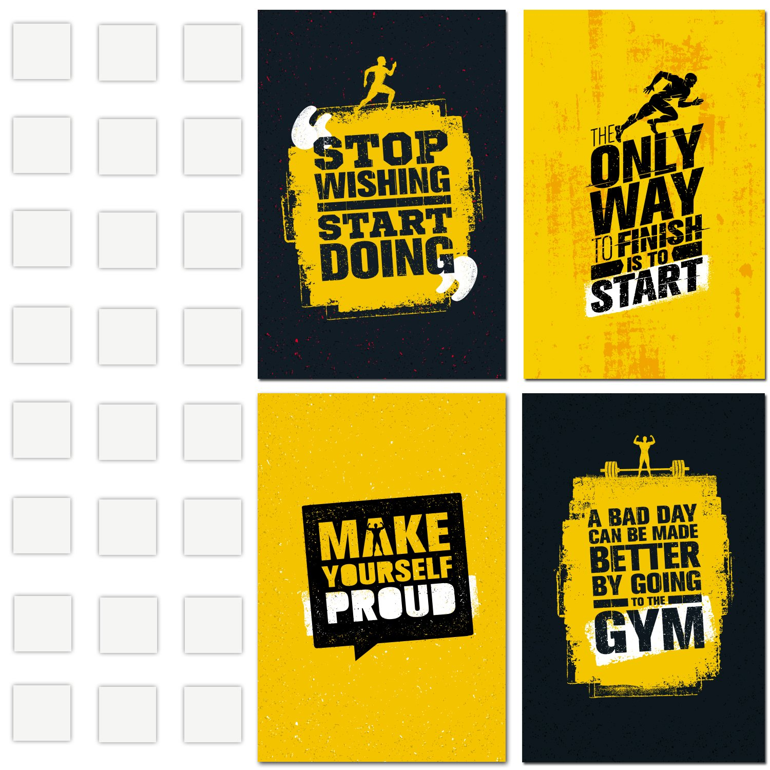 Amazon.com: Motivational Gym Posters | Set of 4 posters of 11"|1500|1500|?|e81fab9c352f832da360ab6b5690ef1a|False|UNLIKELY|0.30363860726356506