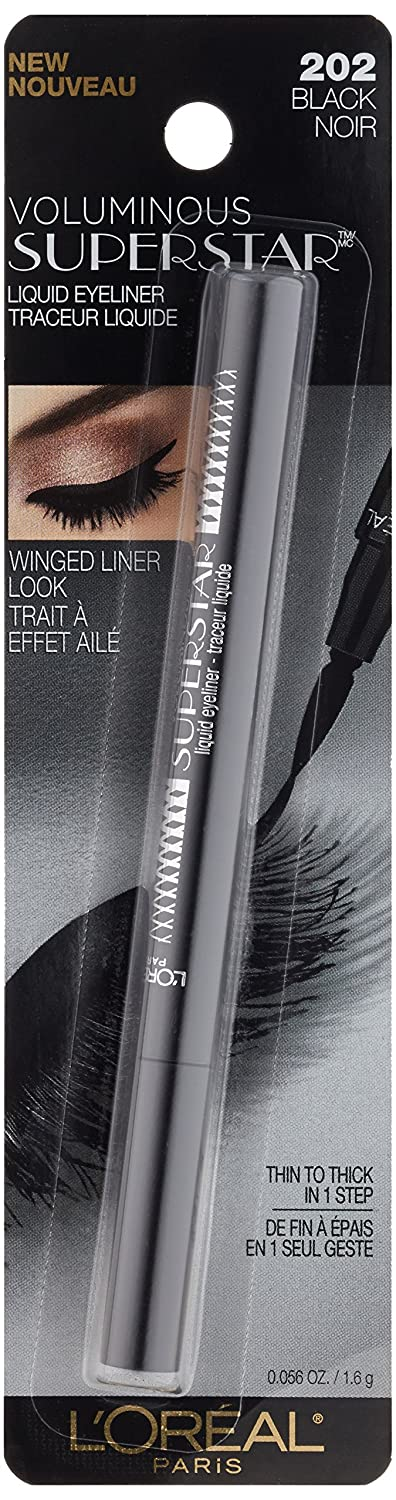 Amazon.com: L'Oréal Paris Voluminous Superstar Eyeliner, Black, 0.056 fl. oz. (Packaging May Vary): Beauty